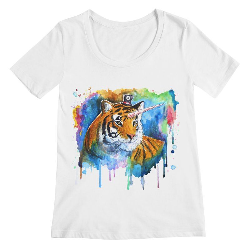 The Tigress With a Dream Women's Scoopneck by