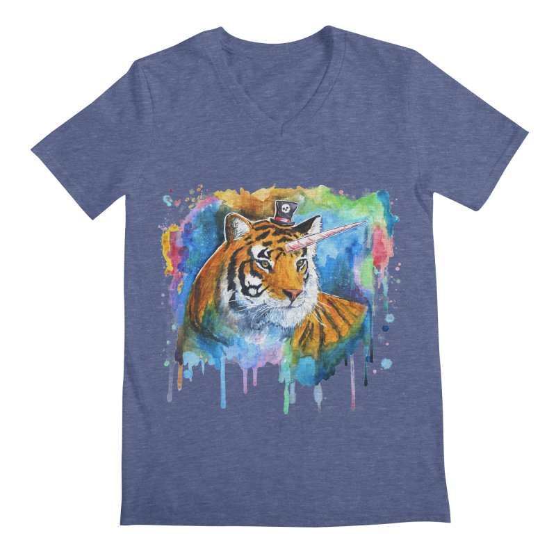 The Tigress With a Dream Men's Regular V-Neck by