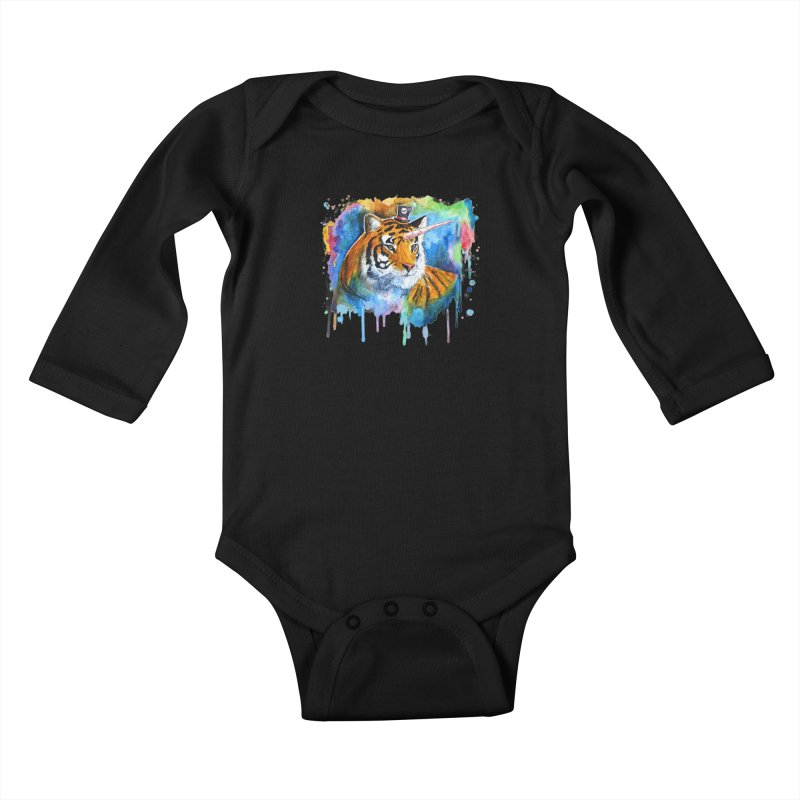 The Tigress With a Dream Kids Baby Longsleeve Bodysuit by