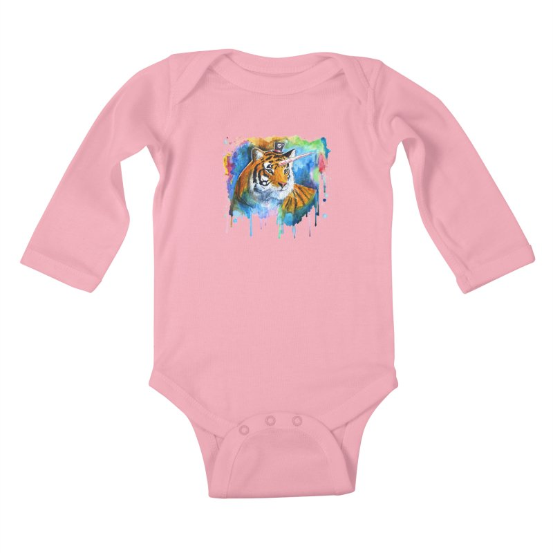 The Tigress With a Dream Kids Baby Longsleeve Bodysuit by artofvelazuez