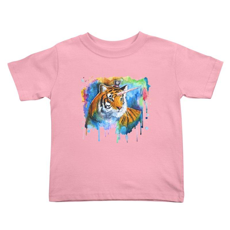 The Tigress With a Dream Kids Toddler T-Shirt by artofvelazuez