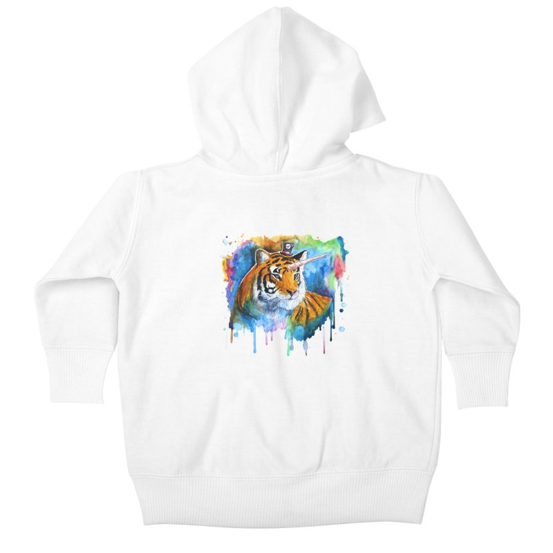 The Tigress With a Dream Kids Baby Zip-Up Hoody by