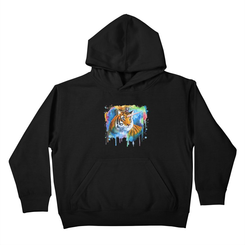 The Tigress With a Dream Kids Pullover Hoody by