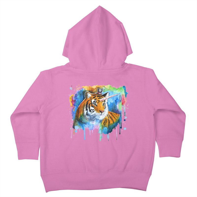 The Tigress With a Dream Kids Toddler Zip-Up Hoody by