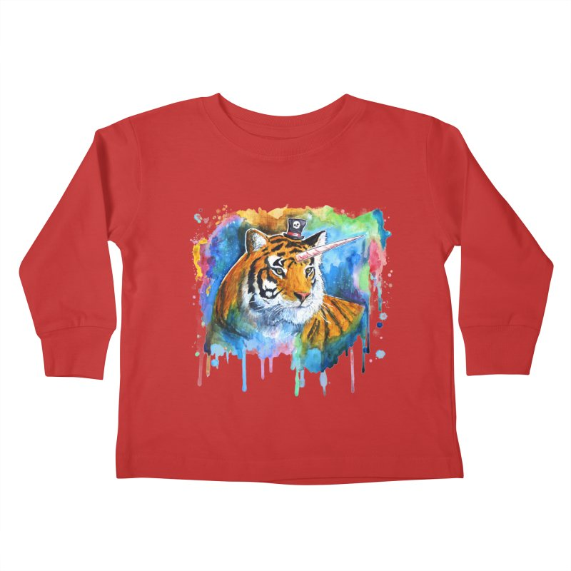 The Tigress With a Dream Kids Toddler Longsleeve T-Shirt by