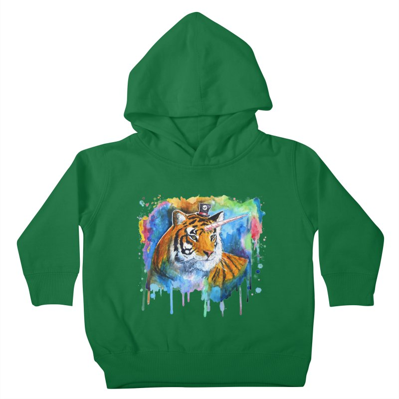 The Tigress With a Dream Kids Toddler Pullover Hoody by artofvelazuez