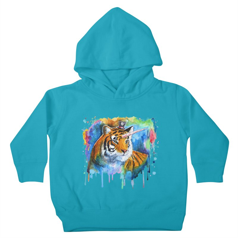 The Tigress With a Dream Kids Toddler Pullover Hoody by