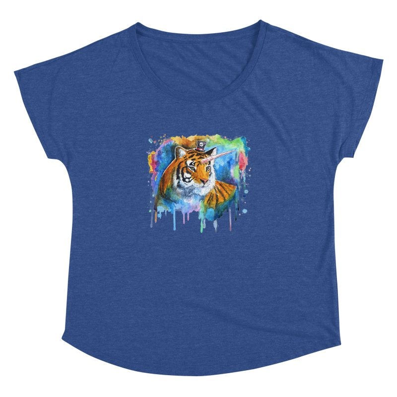The Tigress With a Dream Women's Dolman Scoop Neck by