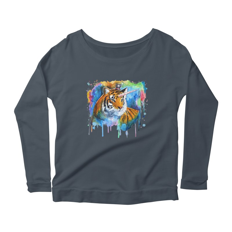 The Tigress With a Dream Women's Longsleeve Scoopneck  by