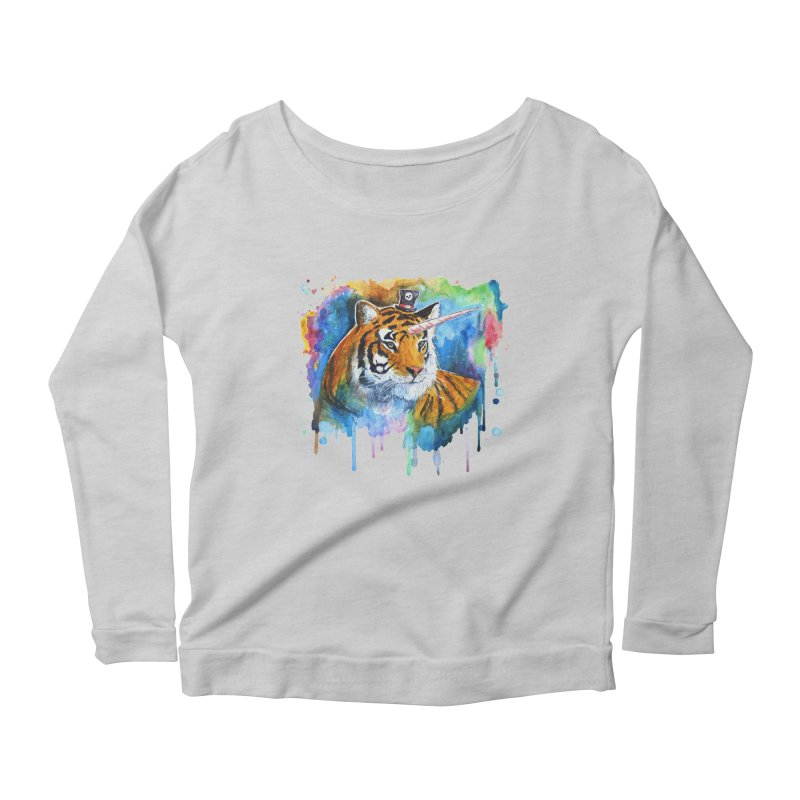 The Tigress With a Dream Women's Scoop Neck Longsleeve T-Shirt by artofvelazuez