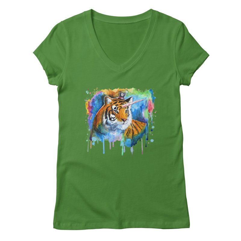 The Tigress With a Dream Women's Regular V-Neck by