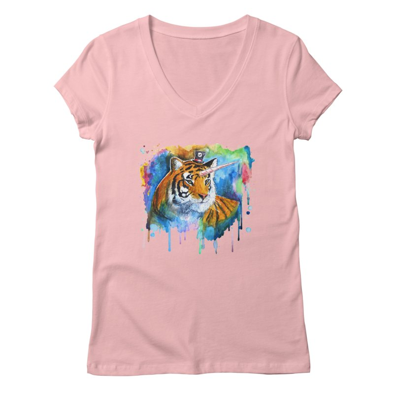The Tigress With a Dream Women's V-Neck by