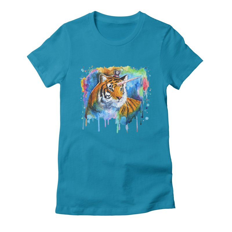 The Tigress With a Dream Women's Fitted T-Shirt by