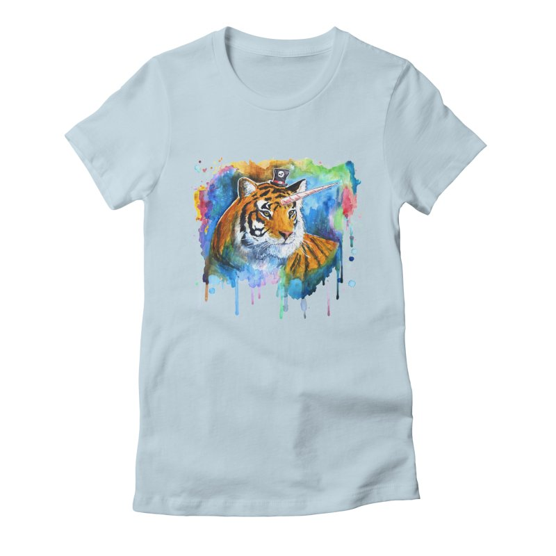 The Tigress With a Dream Women's Fitted T-Shirt by artofvelazuez