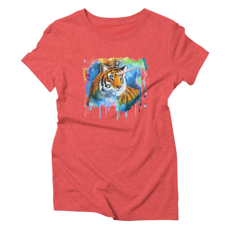 The Tigress With a Dream Women's Triblend T-shirt by