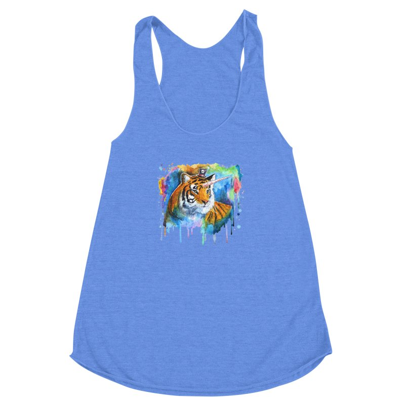 The Tigress With a Dream Women's Racerback Triblend Tank by