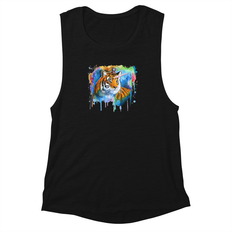 The Tigress With a Dream Women's Muscle Tank by