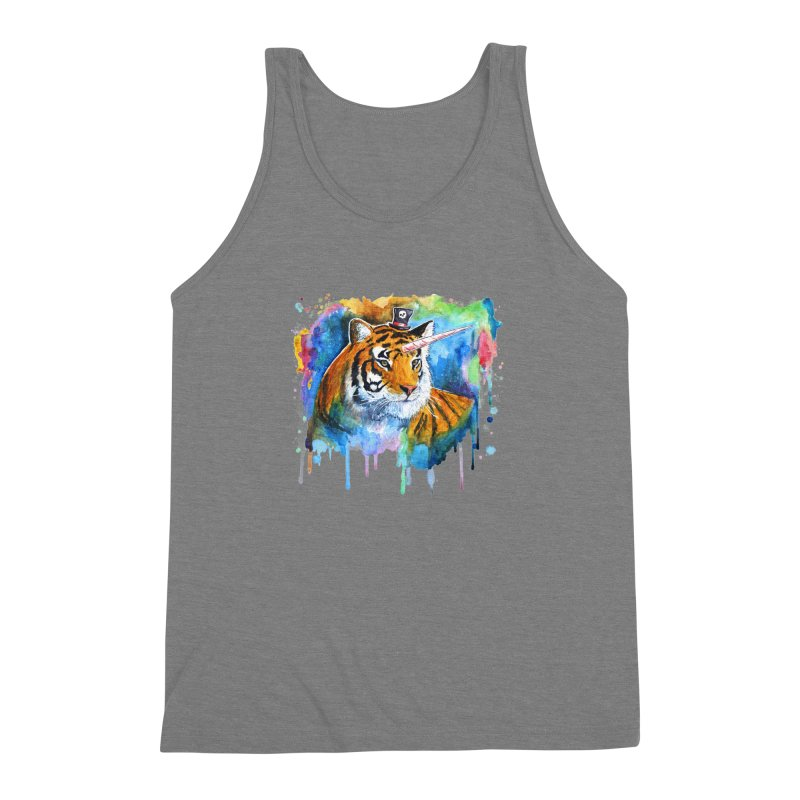 The Tigress With a Dream Men's Triblend Tank by artofvelazuez