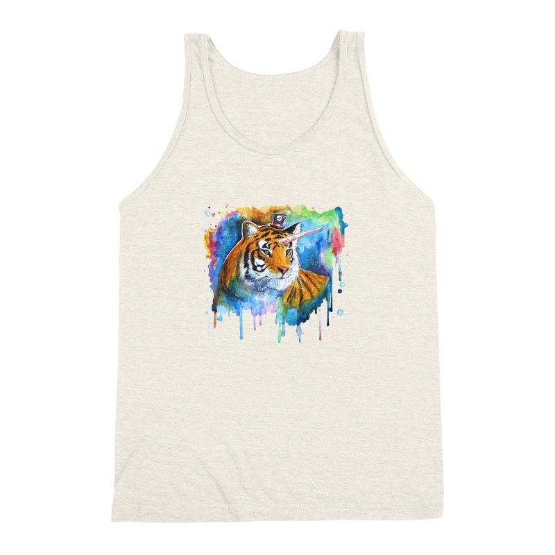 The Tigress With a Dream Men's Triblend Tank by