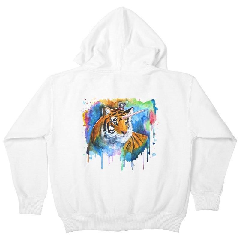The Tigress With a Dream Kids Zip-Up Hoody by
