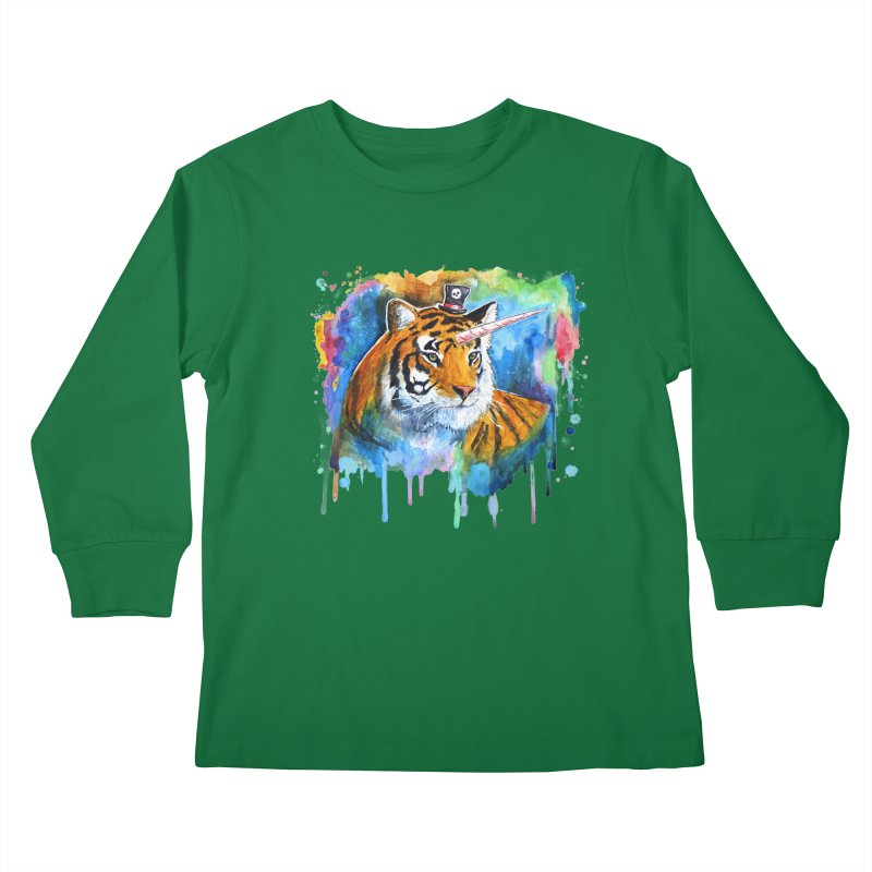 The Tigress With a Dream Kids Longsleeve T-Shirt by