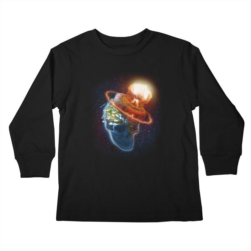 Looks Like A Hat Kids Longsleeve T-Shirt by artofvelazuez