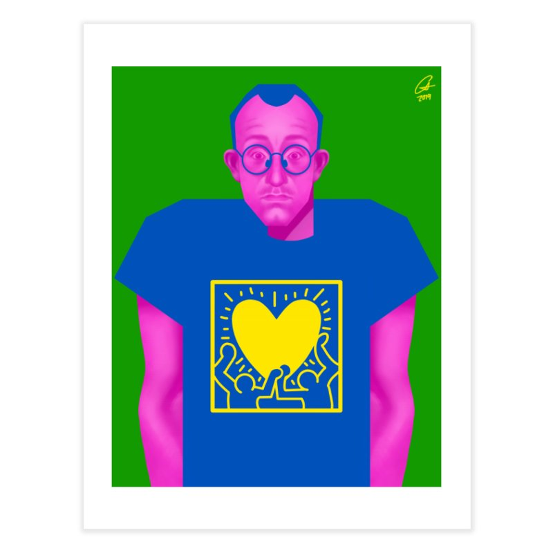 Haring Home Fine Art Print by storieboard