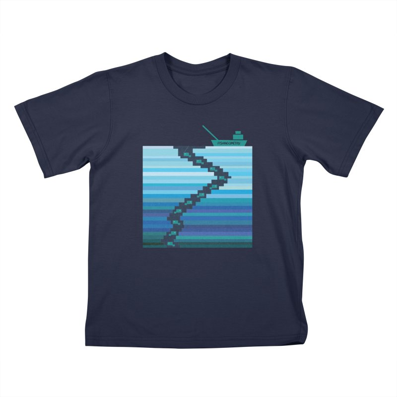 FISHINGOMETRY Kids T-Shirt by pick&roll