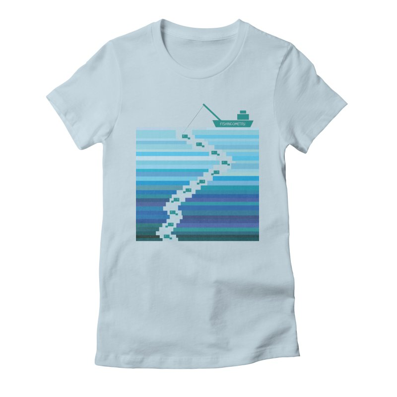 FISHINGOMETRY Women's Fitted T-Shirt by pick&roll