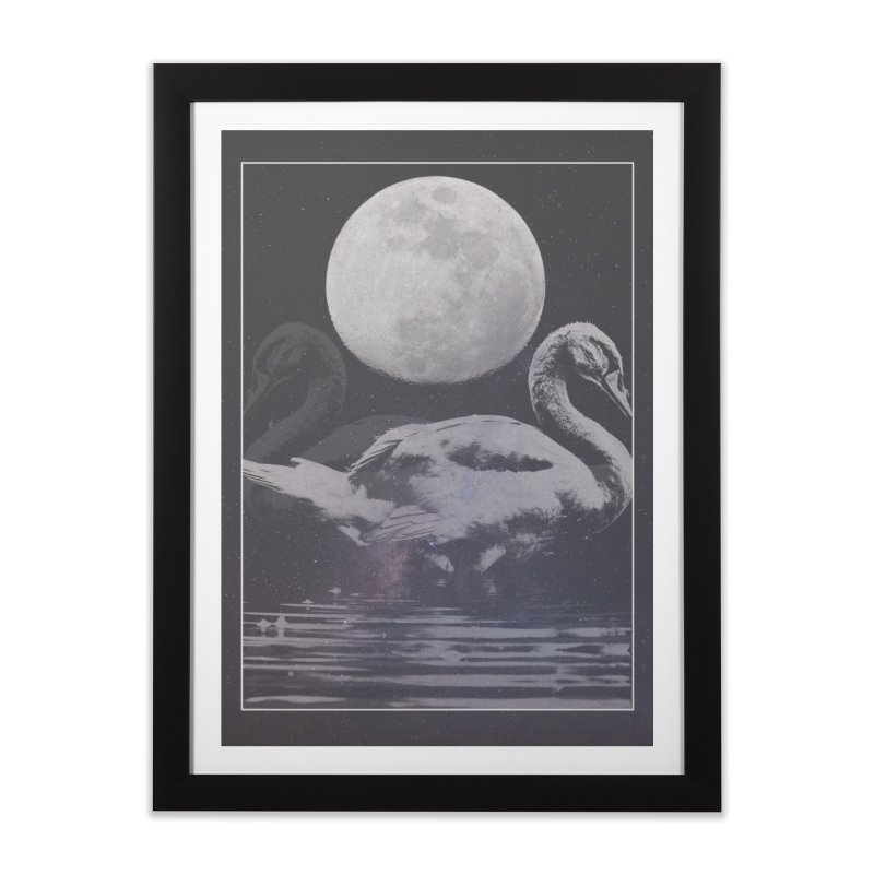 SWANS Home Framed Fine Art Print by strangefiction's Shop
