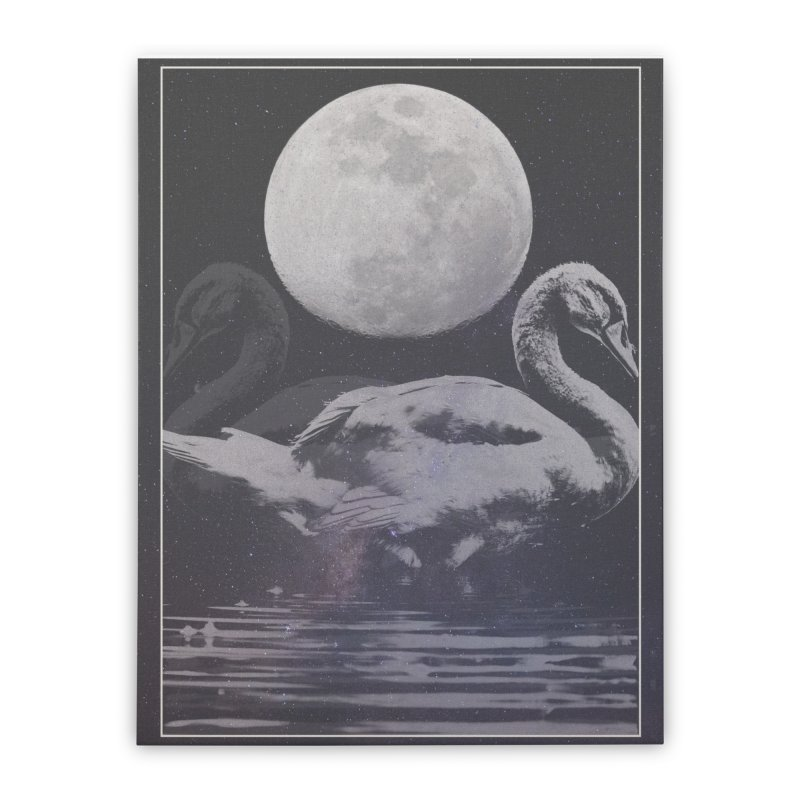 SWANS Home Stretched Canvas by strangefiction's Shop