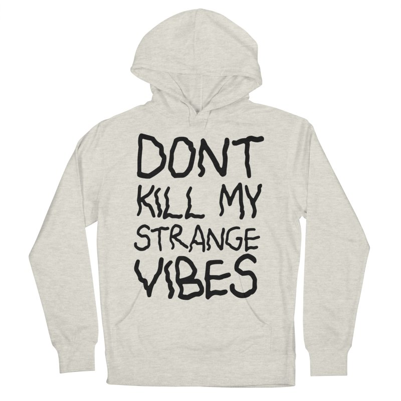STRANGE VIBES in Men's Pullover Hoody Heather Oatmeal by strangefiction's Shop
