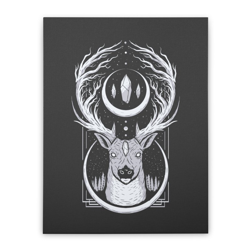 DEER TREE Home Stretched Canvas by strangefiction's Shop