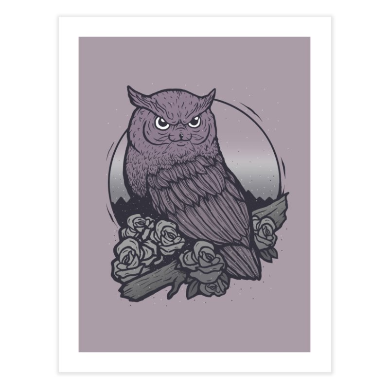 OWL CAT Home Fine Art Print by strangefiction's Shop
