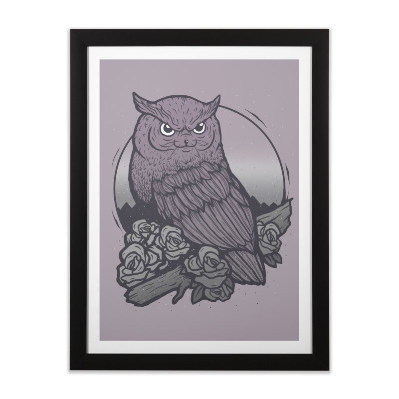 OWL CAT Home Framed Fine Art Print by strangefiction's Shop