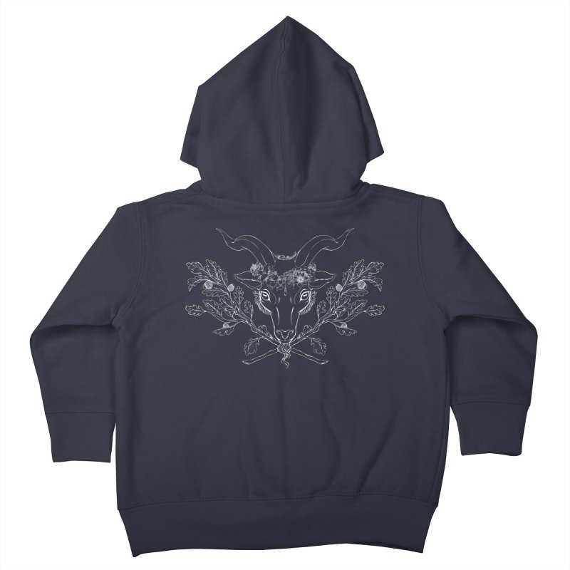 Black Goat (white) Kids Toddler Zip-Up Hoody by The Fumery Clothing Depot