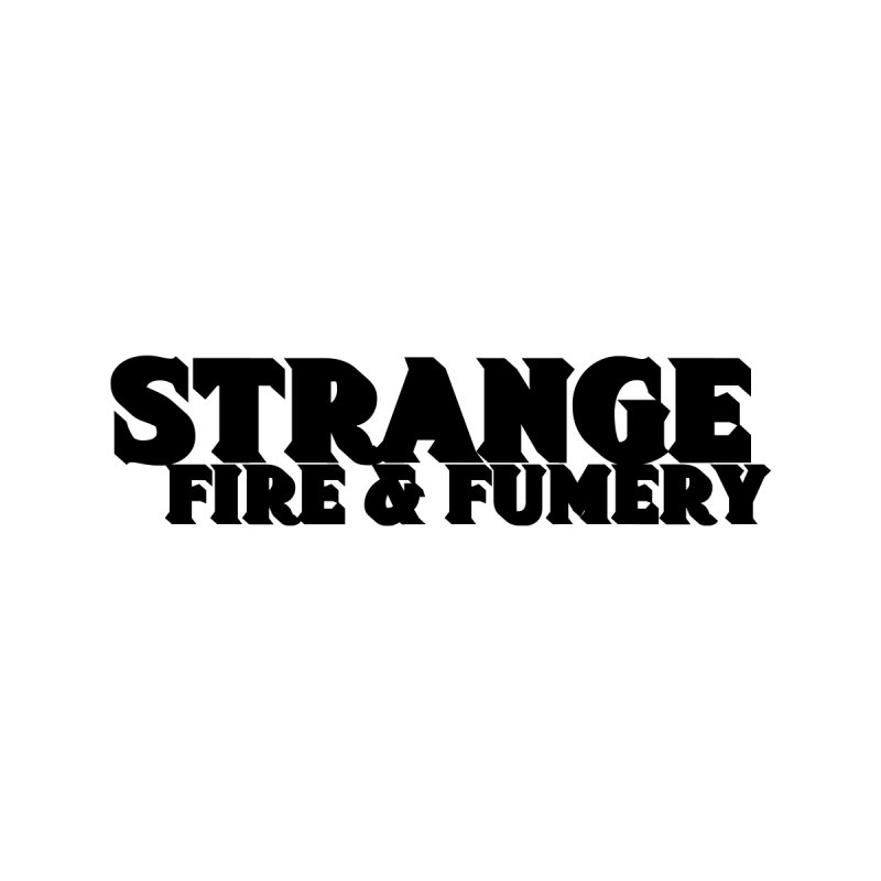 Strange Fire & Fumery Logo (black) Kids Toddler Zip-Up Hoody by The Fumery Clothing Depot