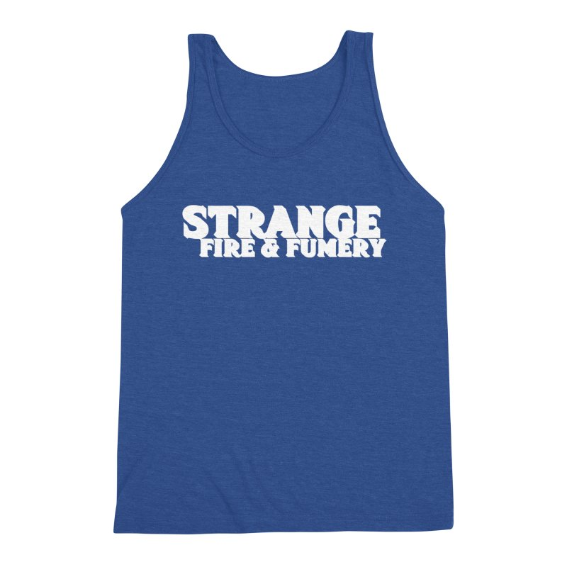 Strange Fire & Fumery Logo (white) Men's Tank by The Fumery Clothing Depot