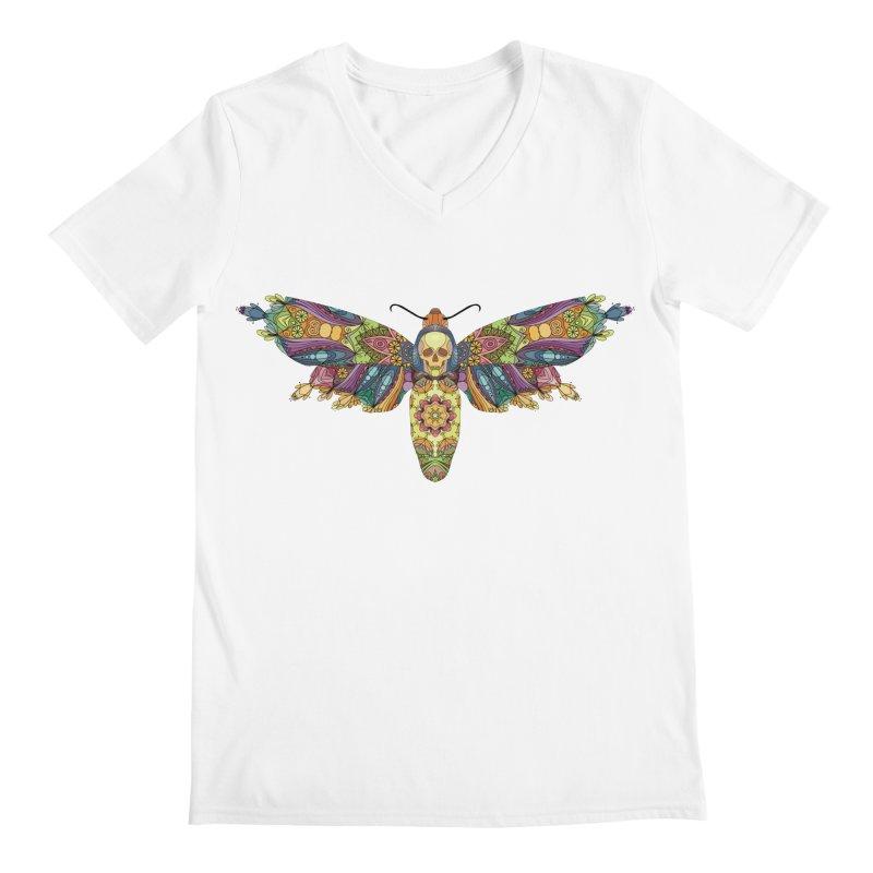 Mosaic Fumery Moth Men's V-Neck by The Fumery Clothing Depot