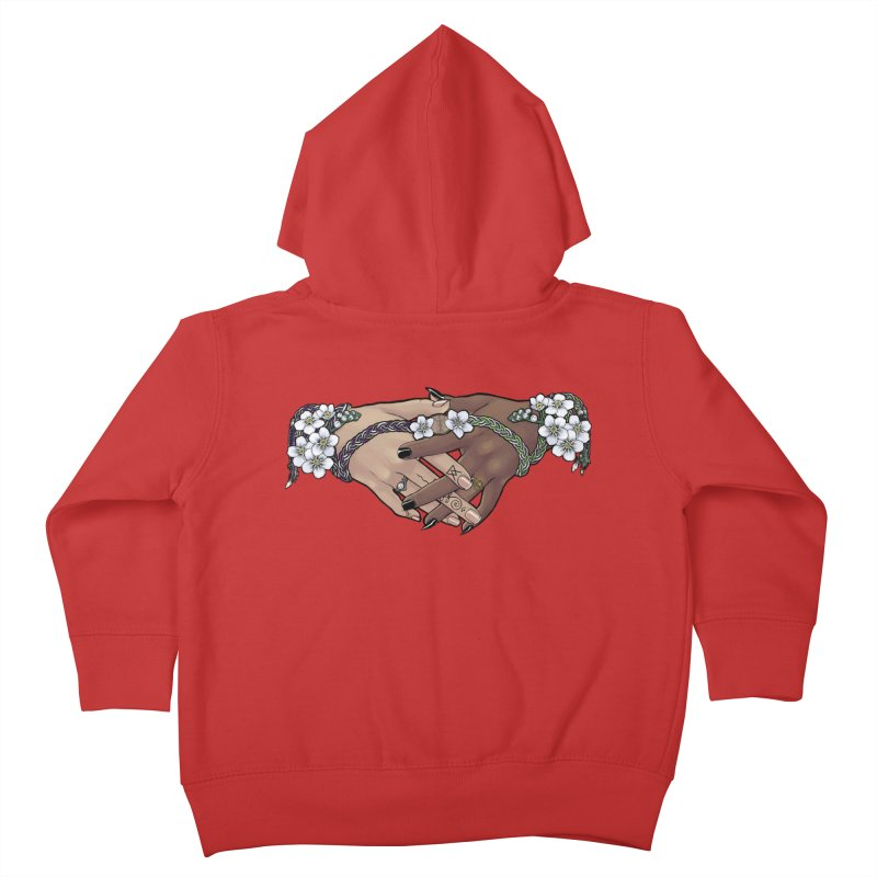 Witch Wife Lavender Project Fundraiser (Ace/Aro) Kids Toddler Zip-Up Hoody by The Fumery Clothing Depot
