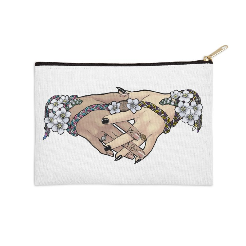 Witch Wife Lavender Project Fundraiser (Trans/Nonbinary) Accessories Zip Pouch by The Fumery Clothing Depot