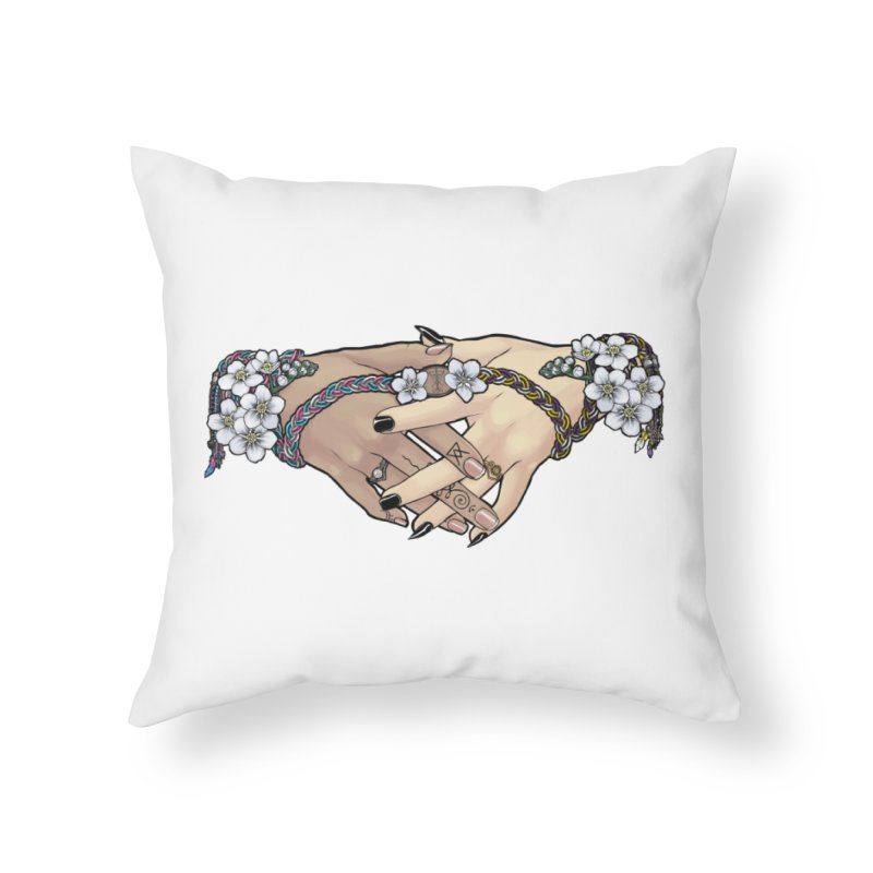 Witch Wife Lavender Project Fundraiser (Trans/Nonbinary) Home Throw Pillow by The Fumery Clothing Depot