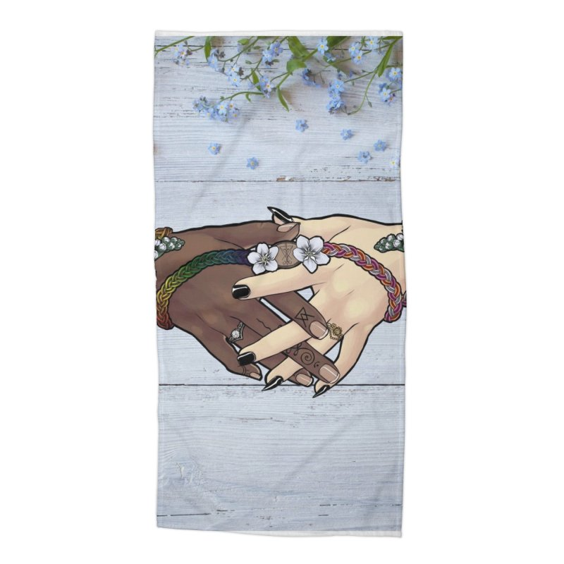 Witch Wife Lavender Project Fundraiser (Gay/Lesbian) Accessories Beach Towel by The Fumery Clothing Depot