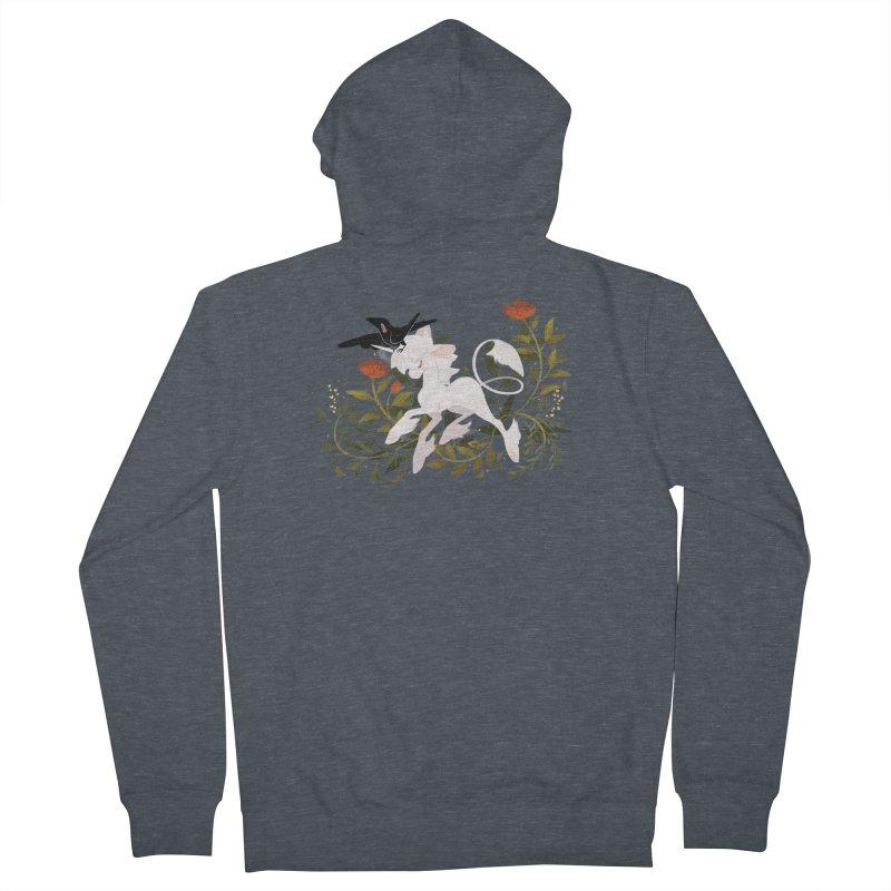 Crow & Unicorn Women's Zip-Up Hoody by StrangelyKatie's Store