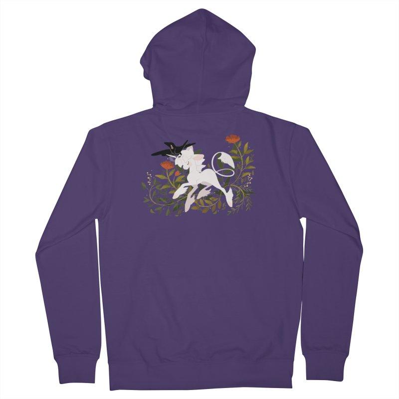 Crow & Unicorn Women's French Terry Zip-Up Hoody by StrangelyKatie's Store