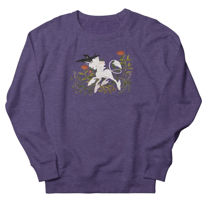 Crow & Unicorn Women's French Terry Sweatshirt by StrangelyKatie's Store