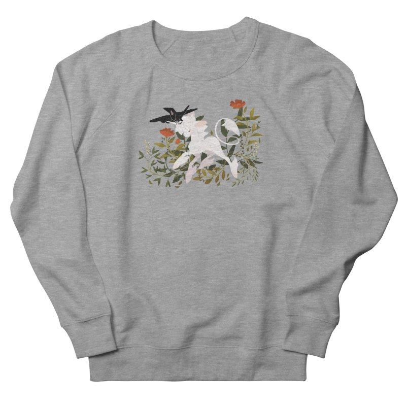 Crow & Unicorn Men's French Terry Sweatshirt by StrangelyKatie's Store