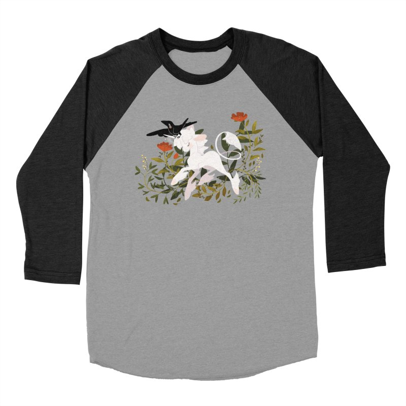 Crow & Unicorn Men's Baseball Triblend Longsleeve T-Shirt by StrangelyKatie's Store
