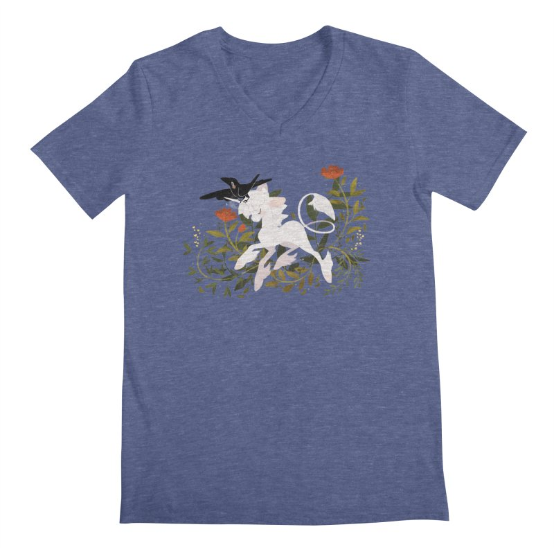 Crow & Unicorn Men's Regular V-Neck by StrangelyKatie's Store