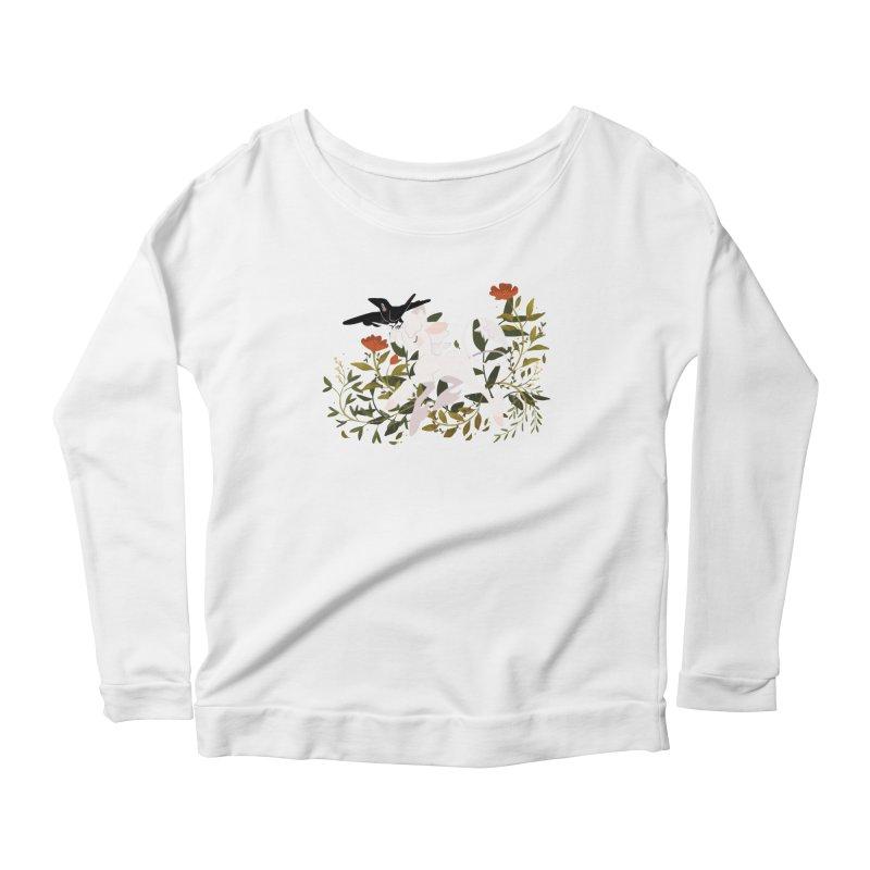 Crow & Unicorn Women's Scoop Neck Longsleeve T-Shirt by StrangelyKatie's Store